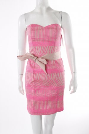 H&M Korsagenkleid neonpink