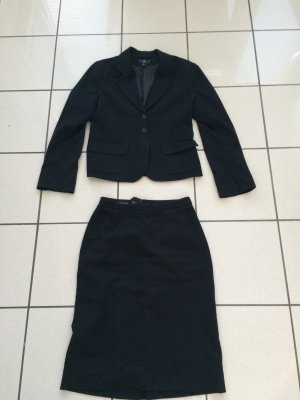 H&M Kostüm, schwarz, Gr 38/40, Blazer und Bleistiftrock