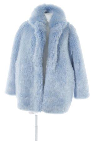 H&M Kunstfelljacke hellblau extravaganter Stil