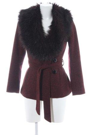 H&M Veste en fausse fourrure rouge carmin-rouge mûre style décontracté