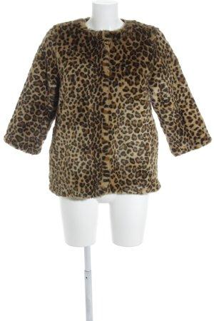 H&M Kunstfelljacke schwarz-braun Animalmuster Street-Fashion-Look