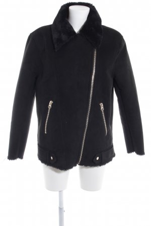H&M Fake Fur Jacket black casual look