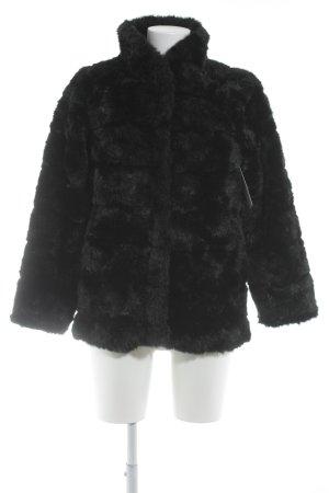H&M Kunstfelljacke schwarz extravaganter Stil