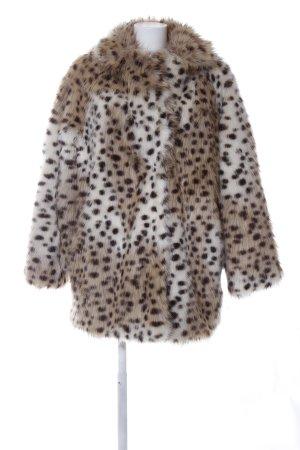 H&M Fake Fur Coat animal pattern casual look