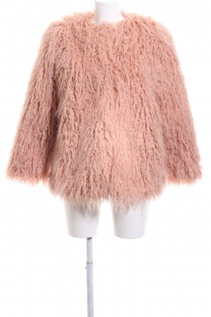 H&M Fake Fur Coat pink casual look