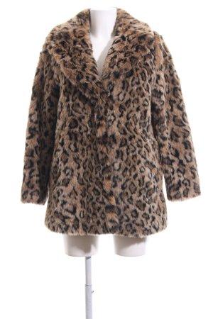 H&M Fake Fur Coat animal pattern animal print