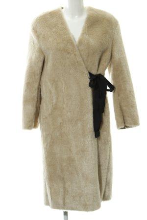 H&M Fake Fur Coat beige extravagant style
