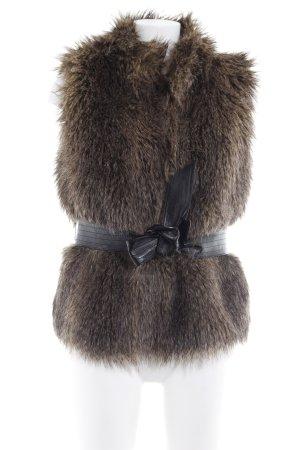H&M Vest van imitatiebont bruin casual uitstraling
