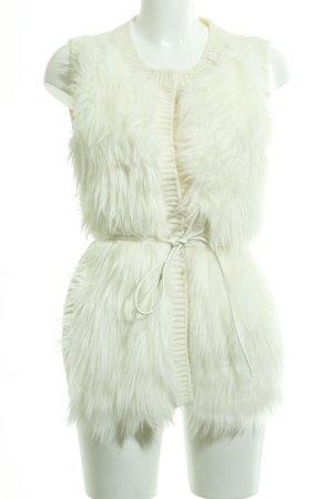 H&M Gilet en fausse fourrure beige clair style décontracté