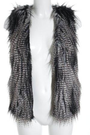 H&M Kunstfellweste Streifenmuster extravaganter Stil