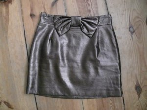 H&M Leather Skirt bronze-colored imitation leather