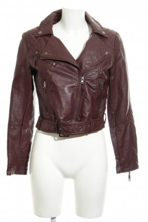 H&M Giacca in ecopelle rosso mora stile casual