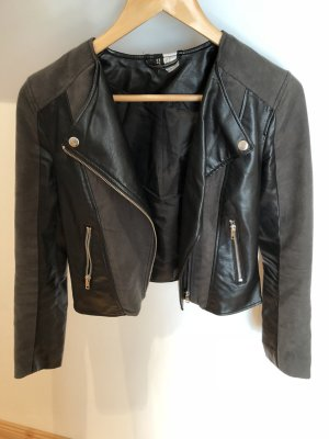 H&M Faux Leather Jacket multicolored