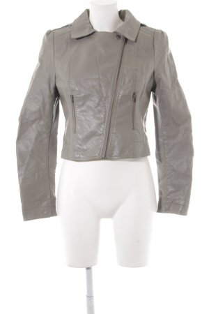 outlet 7924b 1bdb8 H&M Giacca in ecopelle grigio Stile ciclista
