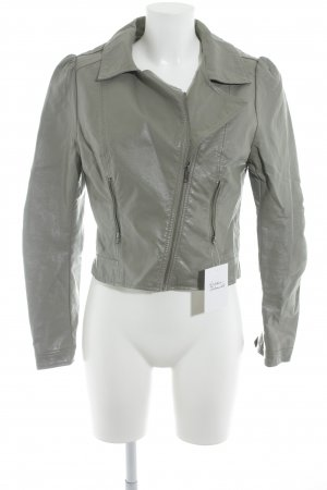 H&M Veste en cuir synthétique gris style décontracté