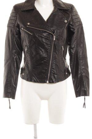H&M Jack van imitatieleder zwart klassieke stijl