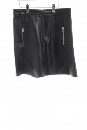 H&M Faux Leather Skirt black extravagant style