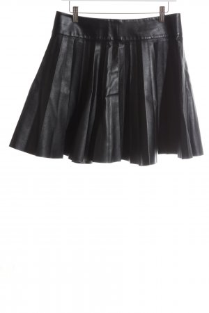 H&M Faux Leather Skirt black casual look