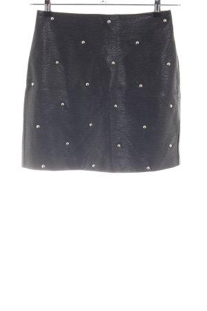H&M Kunstlederrock schwarz Elegant