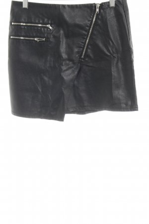 H&M Gonna in ecopelle nero stile casual