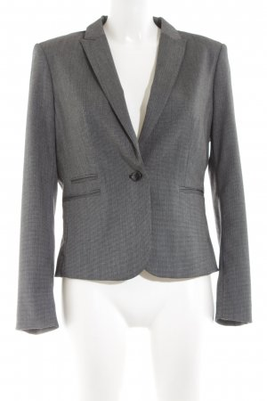 H&M Kurz-Blazer silberfarben Webmuster Business-Look