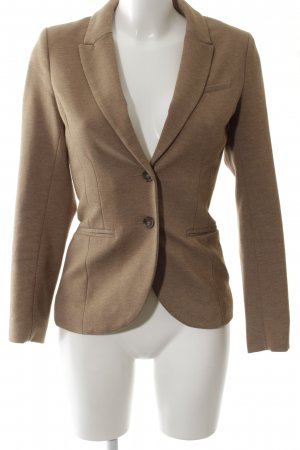 H&M Kurz-Blazer braun Allover-Druck Business-Look