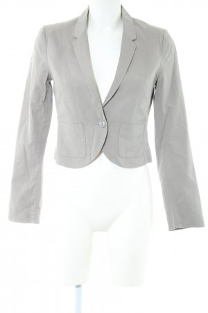 H&M Kurz-Blazer hellgrau Business-Look
