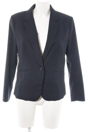 H&M Kurz-Blazer blau Allover-Druck Business-Look