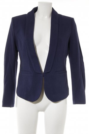 H&M Kurz-Blazer blau Business-Look