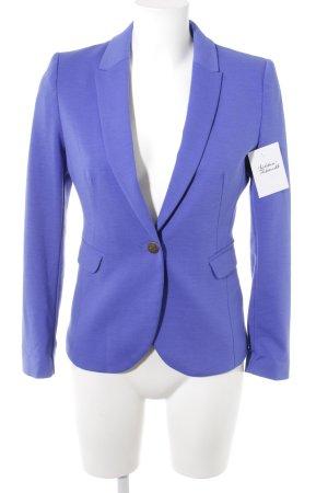 H&M Kurz-Blazer blauviolett Business-Look