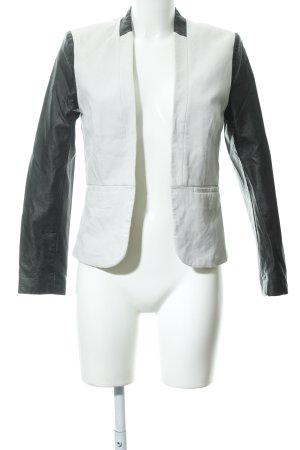 H&M Blazer corto crema-nero stile casual