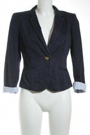 H&M Kurz-Blazer dunkelblau Business-Look