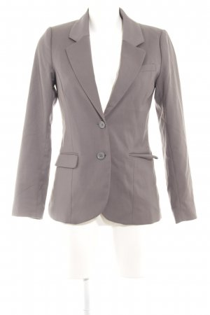 H&M Kurz-Blazer dunkelgrau Business-Look