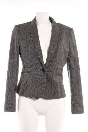 H&M Short Blazer dark grey-white graphic pattern business style