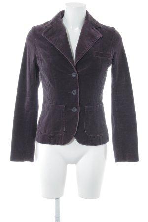 H&M Kurz-Blazer dunkelviolett klassischer Stil