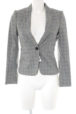 H&M Kurz-Blazer grau-hellgrau Karomuster Business-Look