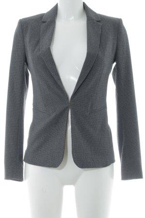 H&M Kurz-Blazer grau-schwarz Karomuster Business-Look