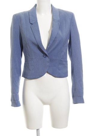 H&M Kurz-Blazer himmelblau meliert Business-Look