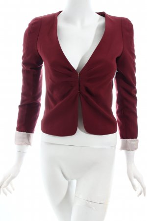 H&M Kurz-Blazer karminrot Business-Look