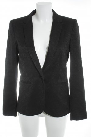 H&M Short Blazer black abstract pattern business style