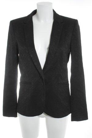 H&M Kurz-Blazer schwarz abstraktes Muster Business-Look
