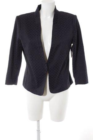 H&M Kurz-Blazer schwarz-dunkelviolett abstraktes Muster Elegant