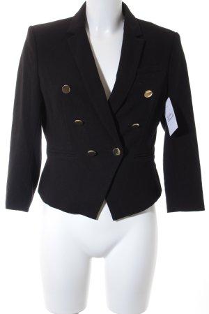 H&M Kurz-Blazer schwarz-goldfarben Elegant