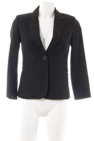 H&M Kurz-Blazer schwarz-hellgrau Nadelstreifen Business-Look