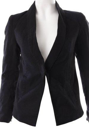 H&M Kurz-Blazer schwarz schlichter Stil