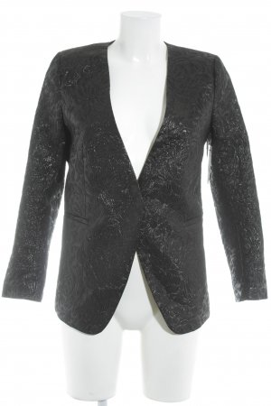 H&M Short Blazer black quilting pattern elegant