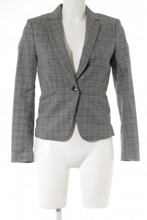 H&M Kurz-Blazer schwarz-weiß Karomuster Elegant