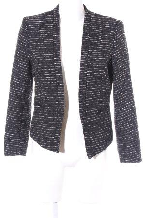 H&M Kurz-Blazer schwarz-weiß meliert Elegant