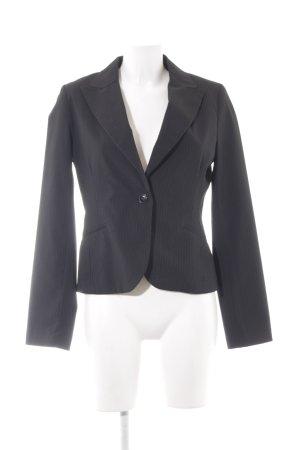 H&M Kurz-Blazer schwarz-weiß Nadelstreifen Business-Look