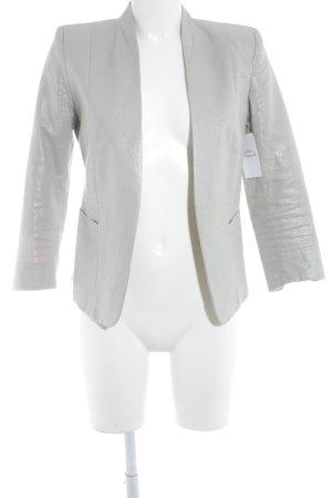 H&M Kurz-Blazer silberfarben Casual-Look